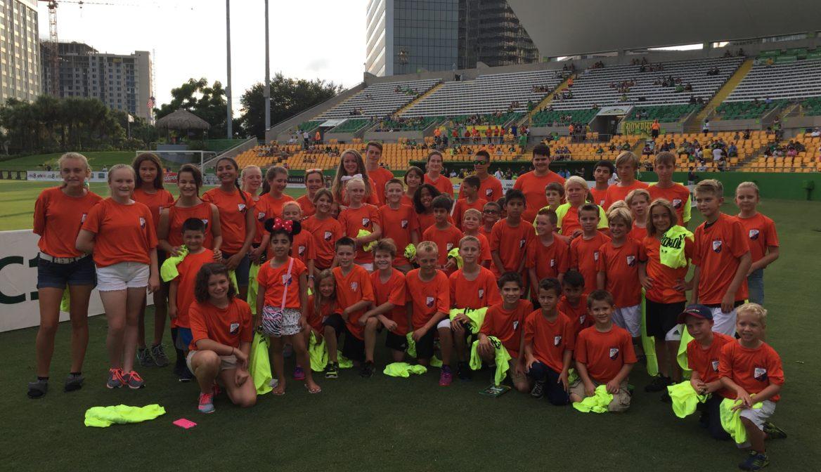 """""""Orange Family"""" visits Tampa Bay Rowdies"""
