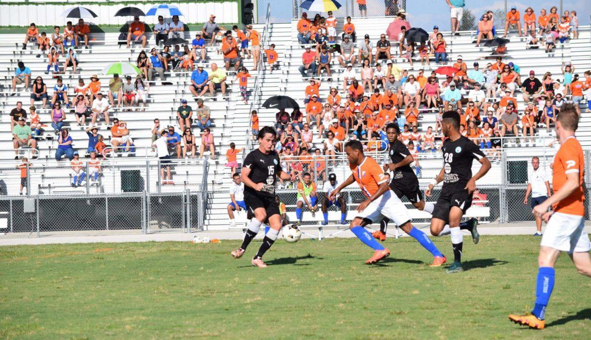 FGCDL FC wins inaugural home match vs Kraze United (2-0)