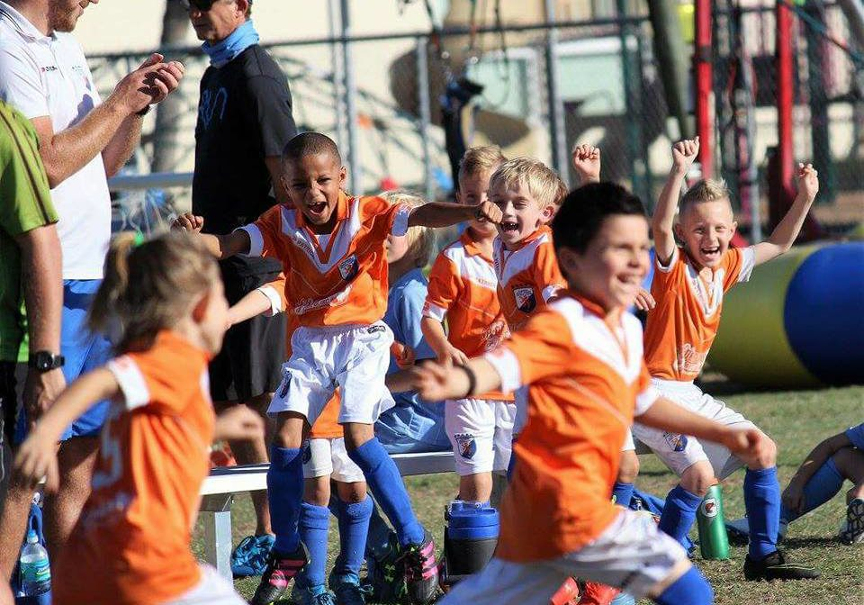 FGCDL FC U8E very excited after their first win