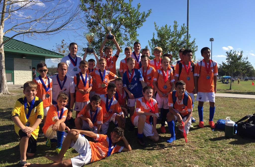 FGCDL FC U10B wins Bazooka Presidents Day Tournament