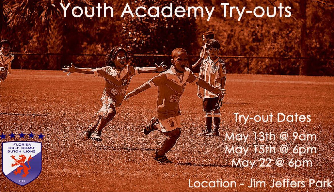 Try-out dates Fall Season FGCDL FC